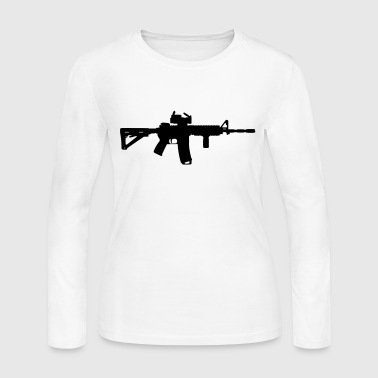 M4 - Assault Rifle - Women's Long Sleeve Jersey T-Shirt