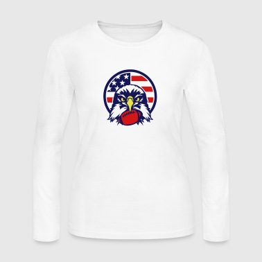 american eagle football ball sports logo - Women's Long Sleeve Jersey T-Shirt