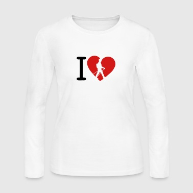 love nordic walking stick - Women's Long Sleeve Jersey T-Shirt