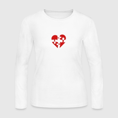puzzled - Women's Long Sleeve Jersey T-Shirt