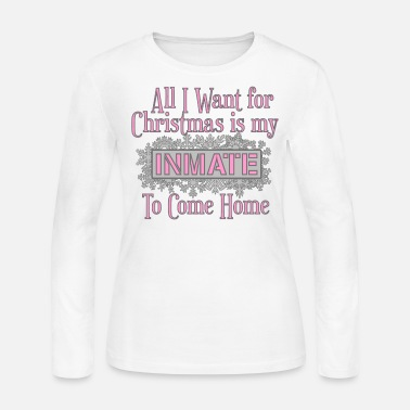Prison All I Want For Christmas - Pink - Women's Long Sleeve Jersey T-Shirt
