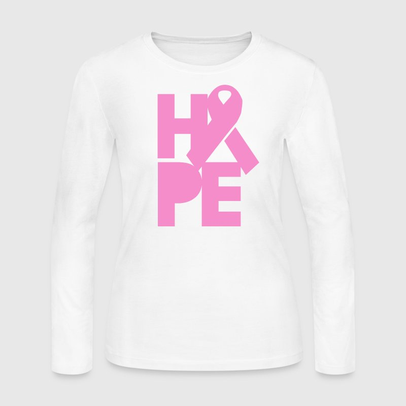 Pink Hope for Breast Cancer - Women's Long Sleeve Jersey T-Shirt
