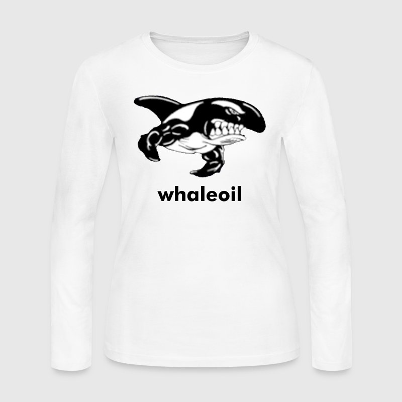 Orca Whale with Muscles - Women's Long Sleeve Jersey T-Shirt