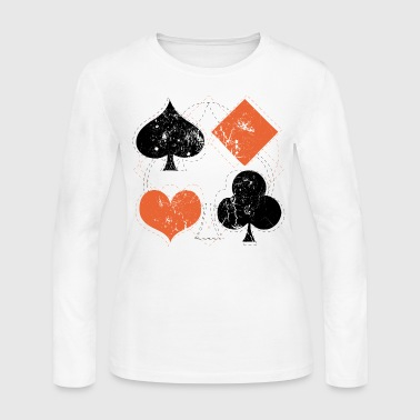 vintage poker playing cards - Women's Long Sleeve Jersey T-Shirt