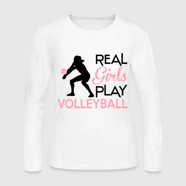 Real girls play volleyball - Women's Long Sleeve Jersey T-Shirt