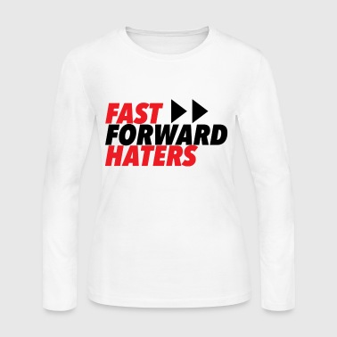 RED fast forward haters - Women's Long Sleeve Jersey T-Shirt