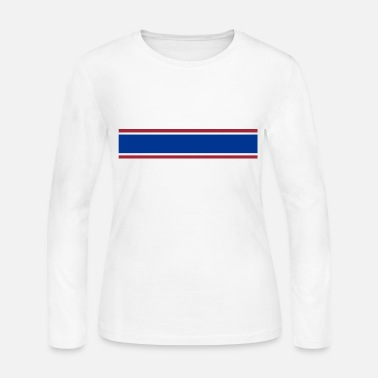 Red White And Blue red white blue stripe - Women's Long Sleeve Jersey T-Shirt