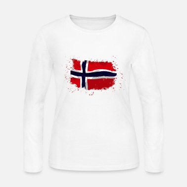 Norway Norway flag - Vintage look - Women's Long Sleeve Jersey T-Shirt