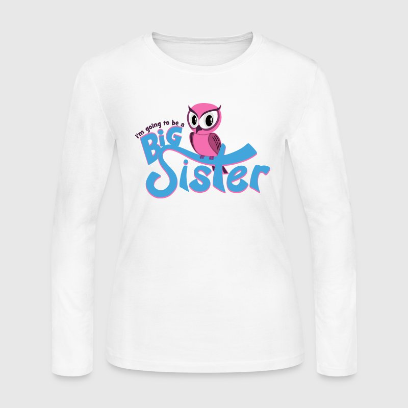 I'm going to be a Big Sister - Owl - Women's Long Sleeve Jersey T-Shirt