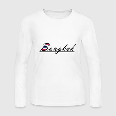Bangkok Flag - Women's Long Sleeve Jersey T-Shirt