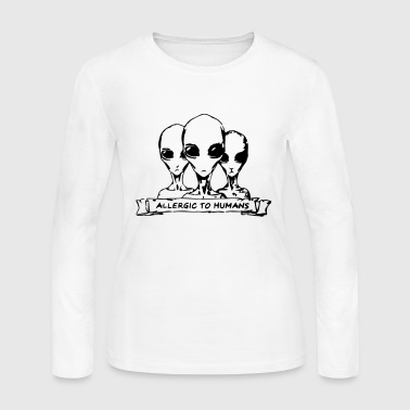 Allergic to Humans SciFi Aliens - Women's Long Sleeve Jersey T-Shirt