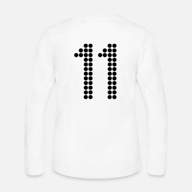 Jersey Number 11, Numbers, Football Numbers, Jersey Numbers - Women's Long Sleeve Jersey T-Shirt