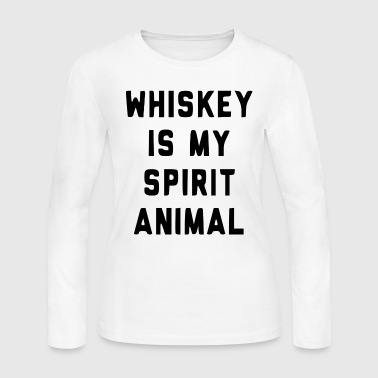 Whiskey Is My Sprit Animal - Women's Long Sleeve Jersey T-Shirt