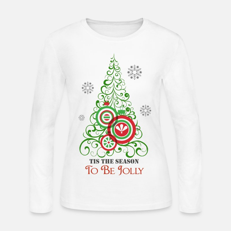 3895327365f Christmas Long sleeve shirts - Tis the Season to be Jolly - Women s Jersey  Longsleeve Shirt
