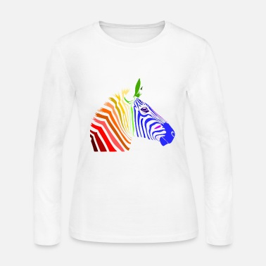 Zebra Zebra; Punk Zebra; Rainbow Zebra - Women's Long Sleeve Jersey T-Shirt