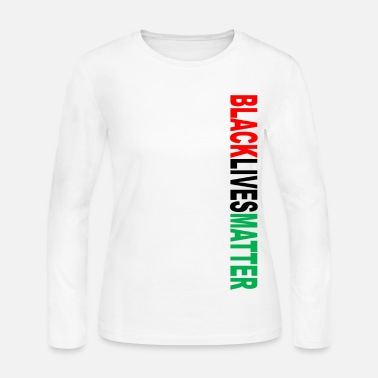 Black Black Lives Matter RBG (V - Women's Long Sleeve Jersey T-Shirt