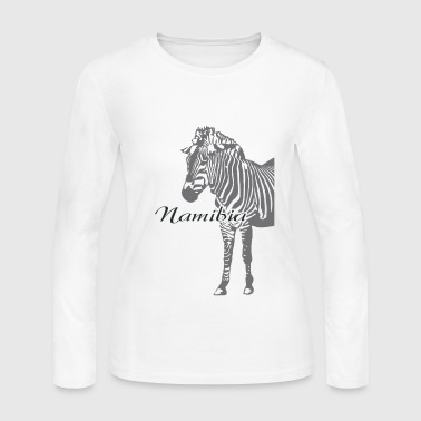 Namibia - Zebra - Women's Long Sleeve Jersey T-Shirt