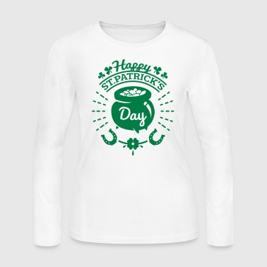 St Patricks Day Gold Pot - Women's Long Sleeve Jersey T-Shirt