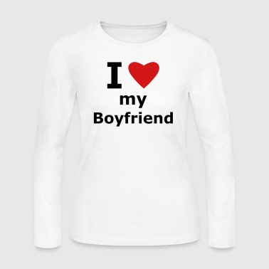 I Love My Boyfriend I love my boyfriend - Women's Long Sleeve Jersey T-Shirt