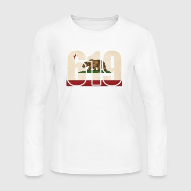 619 California Area Code Bear Flag - Women's Long Sleeve Jersey T-Shirt