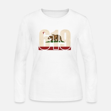 California 619 California Area Code Bear Flag - Women's Jersey Longsleeve Shirt
