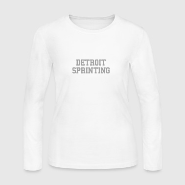 Detroit Sprinting - Women's Long Sleeve Jersey T-Shirt