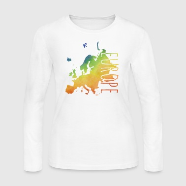 europe - Women's Long Sleeve Jersey T-Shirt