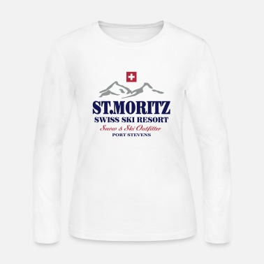 Switzerland St. Moritz - Swiss flag - Women's Jersey Longsleeve Shirt