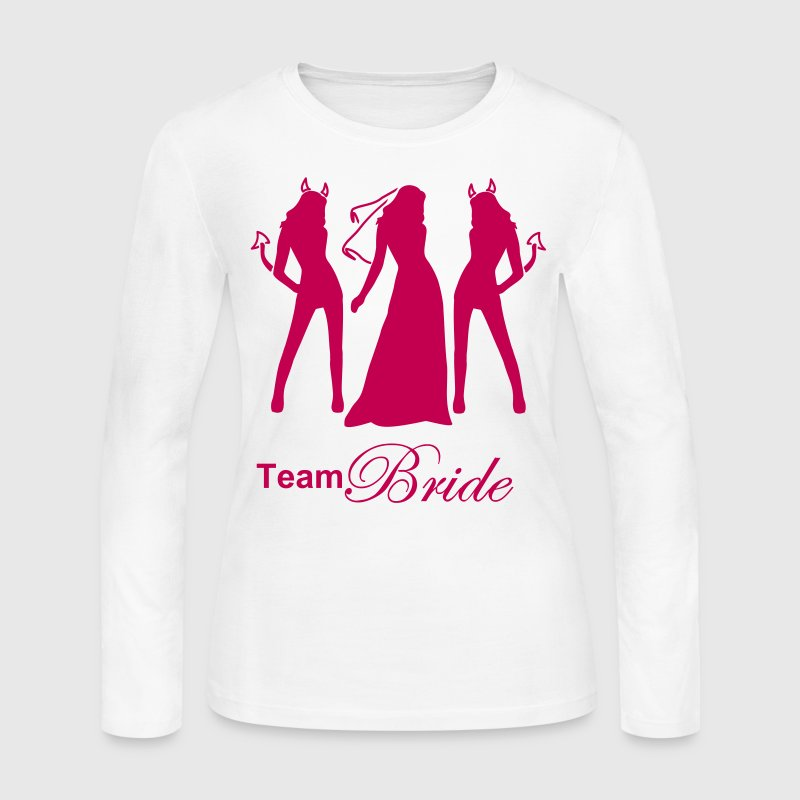 team bride - Women's Long Sleeve Jersey T-Shirt