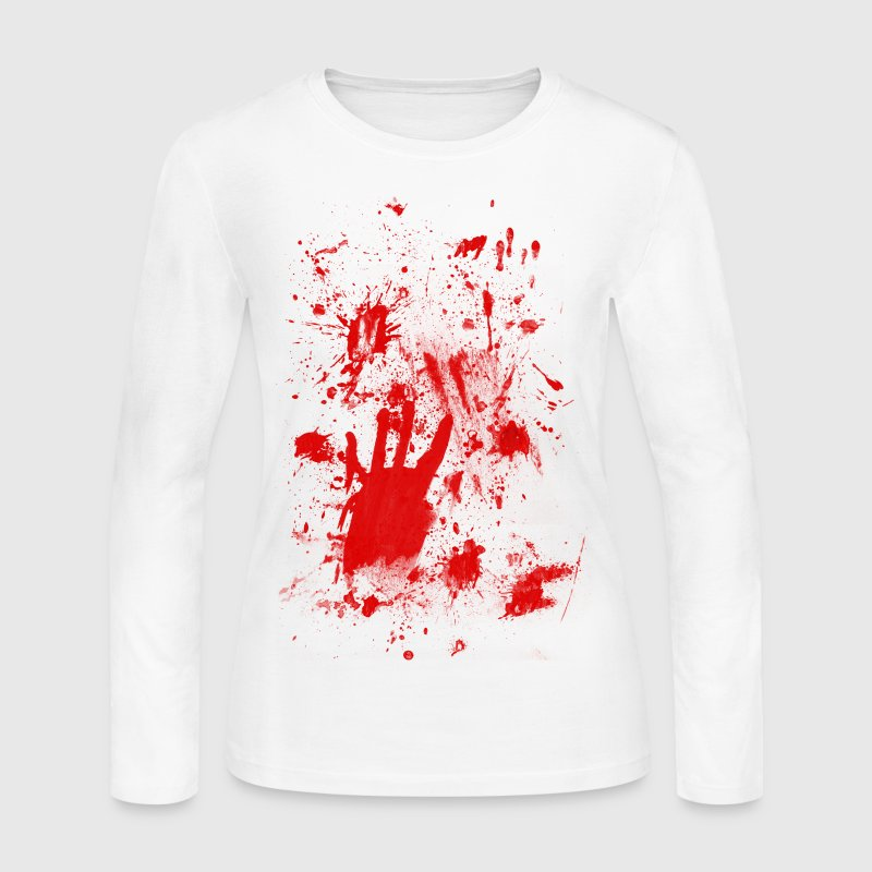 Splashes of blood / blood Smeared - Women's Long Sleeve Jersey T-Shirt