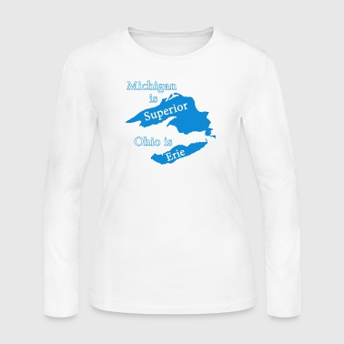 Michigan is Superior Funny - Women's Long Sleeve Jersey T-Shirt