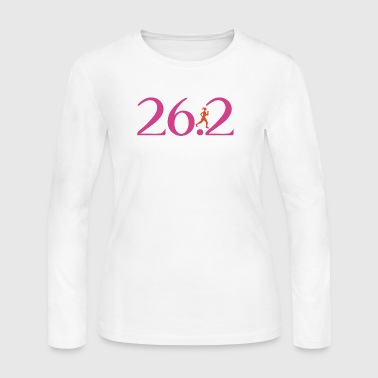 26.2 Runs Like A Girl - Women's Long Sleeve Jersey T-Shirt