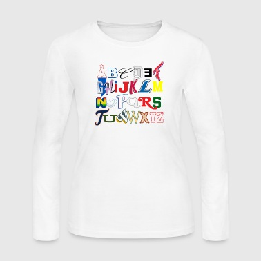 Detroit Letter Alphabet  - Women's Long Sleeve Jersey T-Shirt