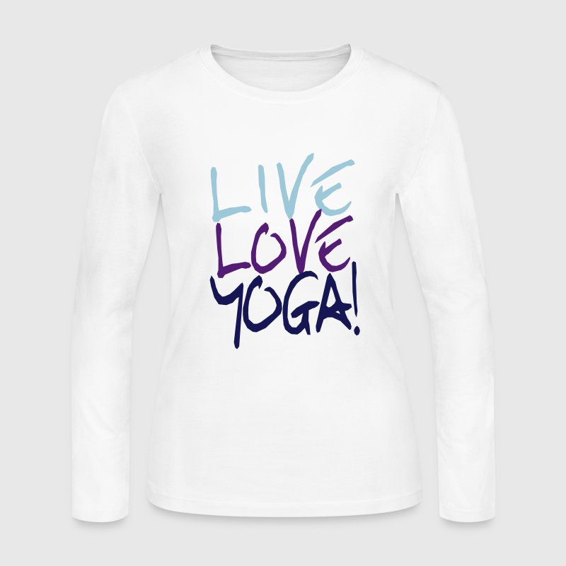 Live Love Yoga! | Custom Yoga Shirts - Women's Long Sleeve Jersey T-Shirt