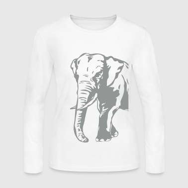 African Elephant  - Women's Long Sleeve Jersey T-Shirt