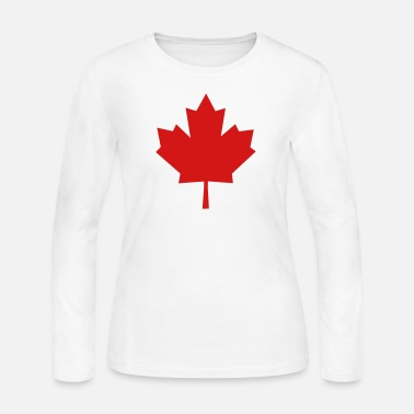 Quebec Maple Leaf - Symbol of Canada - Women's Long Sleeve Jersey T-Shirt