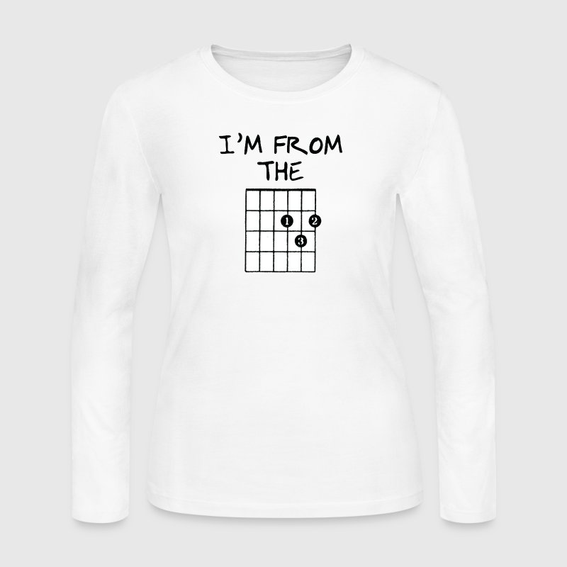 I'm From The D Music Note - Women's Long Sleeve Jersey T-Shirt