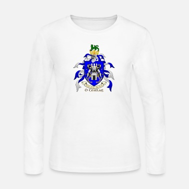 Family Crest Kelly Family Crest Shield - Women's Long Sleeve Jersey T-Shirt