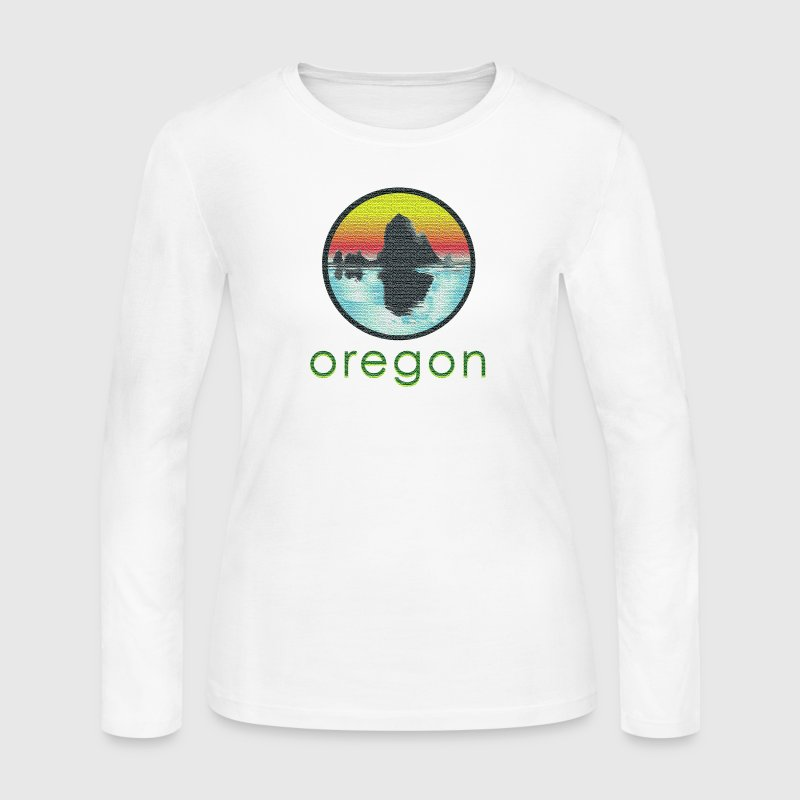 Vintage Cannon Beach Oregon - Women's Long Sleeve Jersey T-Shirt