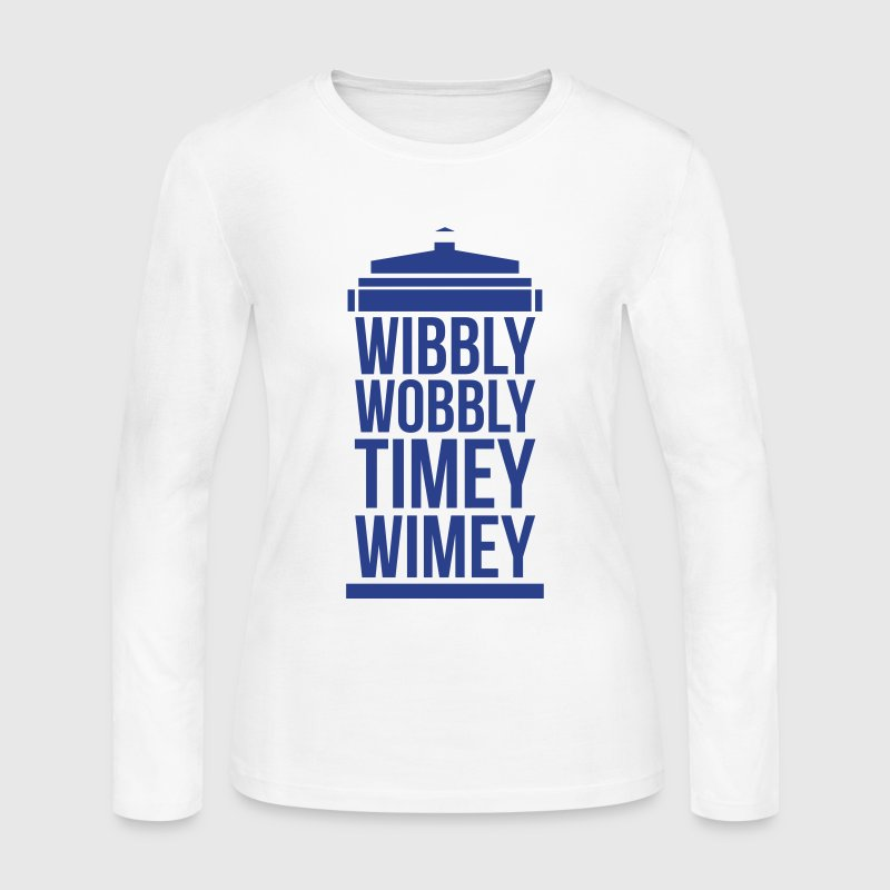 wibbly wobbly timey wimey - Women's Long Sleeve Jersey T-Shirt