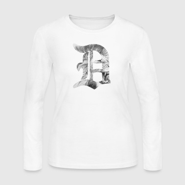Detroit Old D Lion - Women's Long Sleeve Jersey T-Shirt