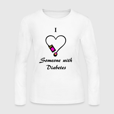 I Love Someone With Diabetes - Pump 2 - P/O - Women's Long Sleeve Jersey T-Shirt