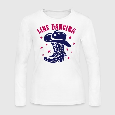 Line Dancing LINE DANCING HAT AND BOOT - Women's Long Sleeve Jersey T-Shirt