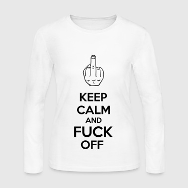 Off Keep Calm And Fuck Off - Women's Long Sleeve Jersey T-Shirt