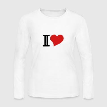 i heart - Women's Long Sleeve Jersey T-Shirt