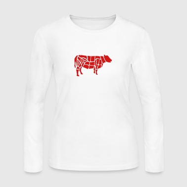 cow grilling - Women's Long Sleeve Jersey T-Shirt