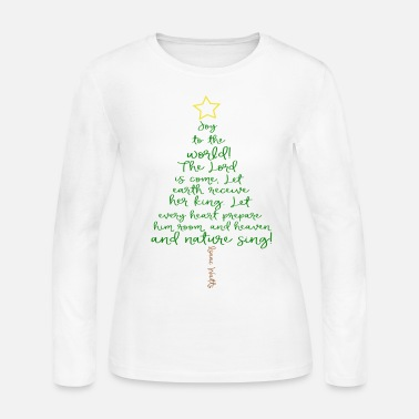 Christmas Tree Joy To The World Christmas Tree - Women's Long Sleeve Jersey T-Shirt