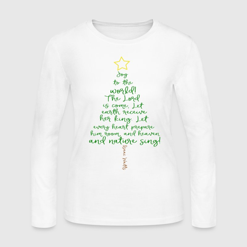 Joy To The World Christmas Tree - Women's Long Sleeve Jersey T-Shirt