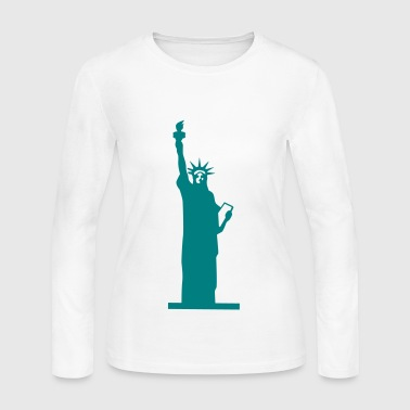 Statue of Liberty, Lady Liberty - Women's Long Sleeve Jersey T-Shirt