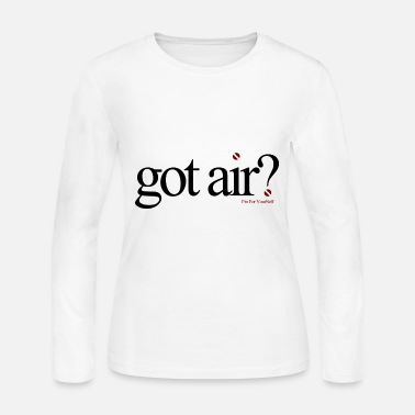 Scuba Got Air ? Long Sleeve - White - Women's Long Sleeve Jersey T-Shirt
